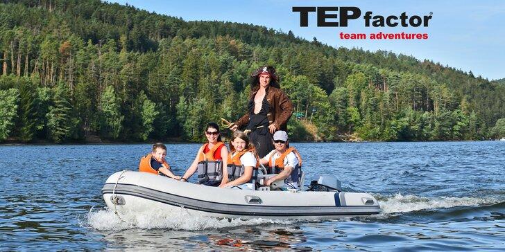 Poklad na Slapském jezeře aneb šifrovačka na motorových člunech až pro 4 osoby