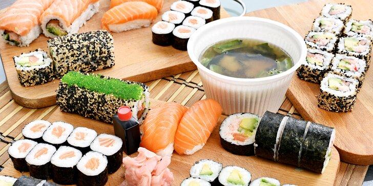 Pochutnejte si na sushi doma i v práci: výběr ze 6 setů s sebou, losos i avokádo