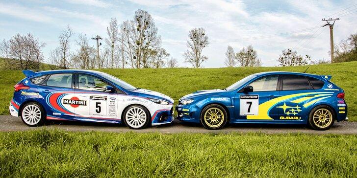 Staňte se jezdcem rallye: 30–60 minut jízdy ve speciálně upraveném Subaru Impreza nebo Ford Focus