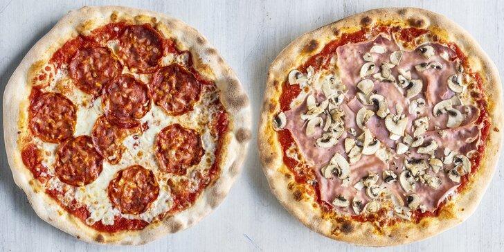 Pizza s sebou: 1–4 kulaté dobroty o průměru 35 cm podle výběru