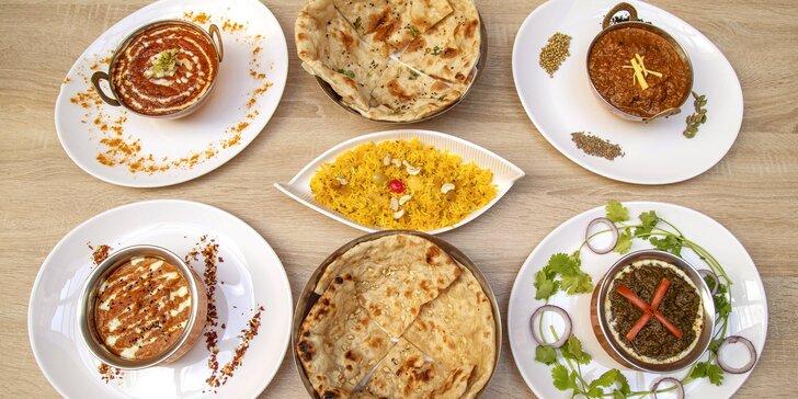 Voucher na 500 či 1000 Kč do The Royal Maharaja: masové a vege chody, polévky, jemné či pálivé omáčky