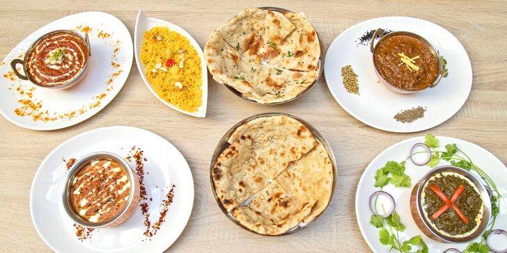 Ochutnejte Indii: otevřené vouchery na jakékoli jídlo v hodnotě 500 nebo 1000 Kč