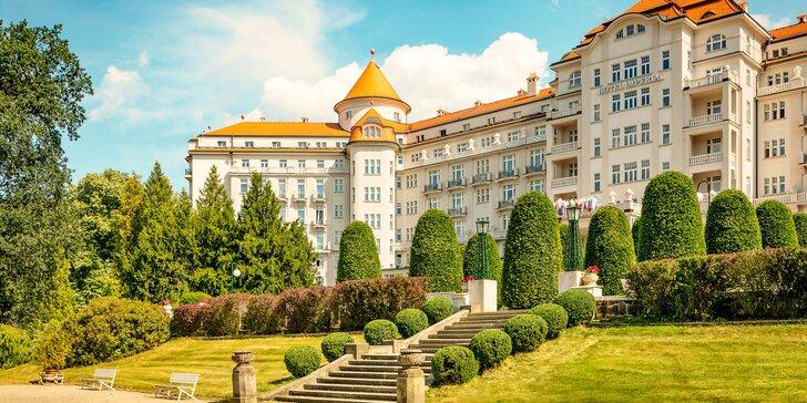 5* hotel Imperial v Karlových Varech: luxusní polopenze, wellness a 3 lázeňské procedury