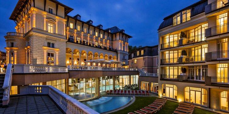 Nově zrekonstruovaný 5* hotel v Mariánkách: polopenze, sauny, bazény a koupel