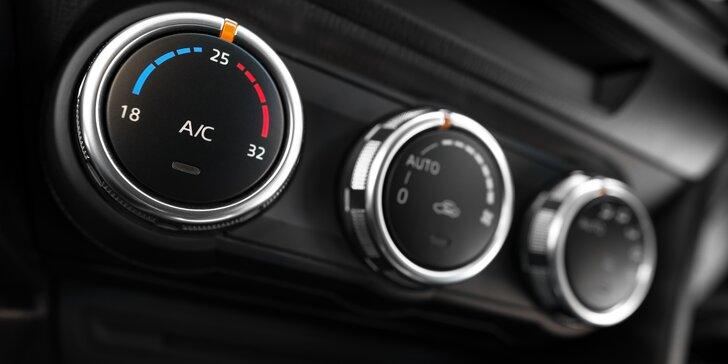Kontrola a plnění klimatizace osobního auta i s možností dezinfekce