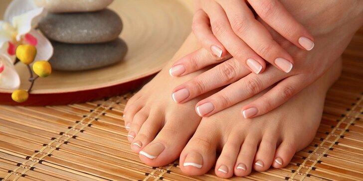 Klasická, suchá nebo spa manikúra či pedikúra včetně lakování gel lakem