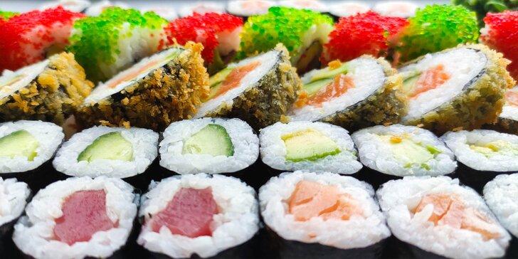 Sushi ve Vítkovicích: sety o 30 či 50 pochoutkách, krevetové nigiri i losos v tempuře