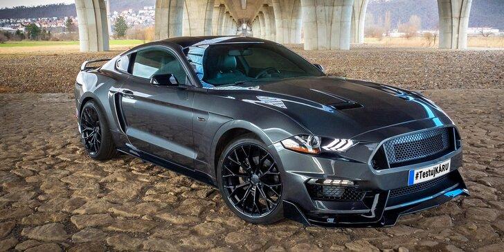 Zkroťte Mustanga: 20–50 minut řízení i spolujízdy smykem nebo zapůjčení na 3 hodiny bez instruktora