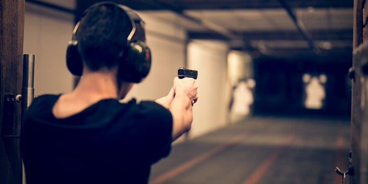 Zamiřte na profi střelnici: balíčky pro 1 osobu až se 7 zbraněmi