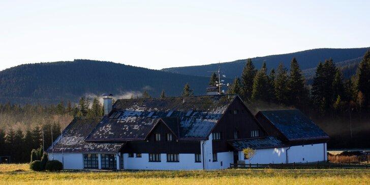 Pobyt v krásné přírodě rezervace Rejvíz: útulný pokoj, jídlo a wellness