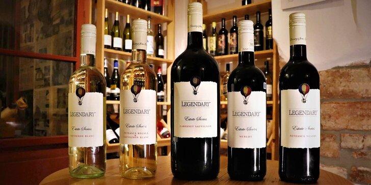 Otevřený voucher v hodnotě 300 nebo 500 Kč na vína značky Recas