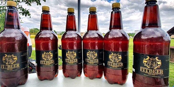 """""""Na jedno"""" bez výčitek: 3–15 litrů nízkosacharidového piva Fit Beer stočeného do pet lahví"""