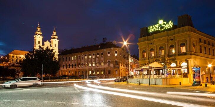 Pobyt v elegantním hotelu v historické Nitře: privátní wellness i láhev vína