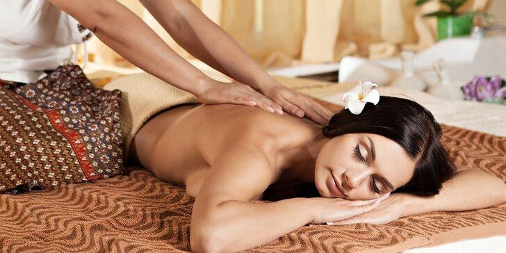 Dokonalý odpočinek na tradiční thajské masáži: 30, 60 nebo 90 minut