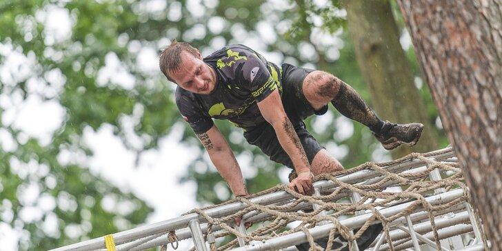 Gladiator Race Josefov: registrace do extrémního závodu, funkční tričko, startovní balíček a medaile