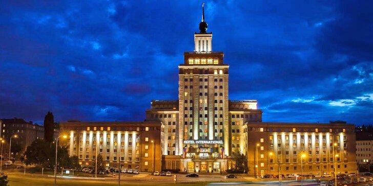 Legendární hotel International: pobyt s jídlem i romantika s masáží, skvělá dostupnost do centra