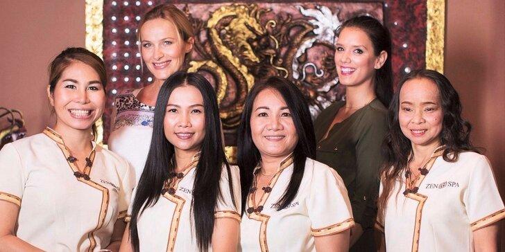 Thajský relax ve všední den: masáž podle výběru a vstup do wellness zóny