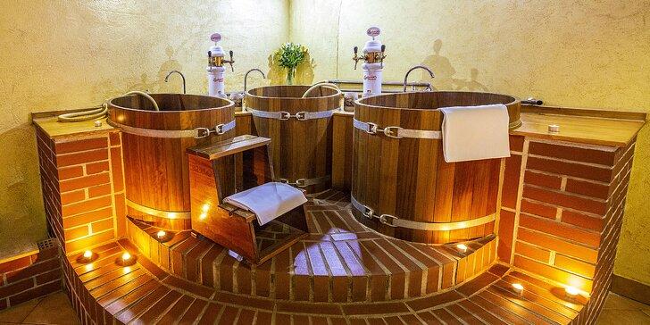 4* wellness v historickém Táboře: pivní lázeň, sauna a neomezená konzumace piva pro dva
