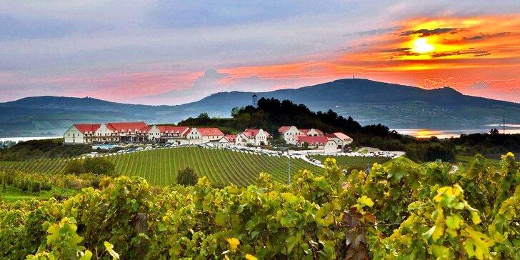 Červnový relax ve Vinařství U Kapličky: polopenze, wellness a víno, nástup v neděli