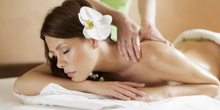 30–90minutová thajská masáž dle výběru: tradiční, relaxační, olejová i sportovní