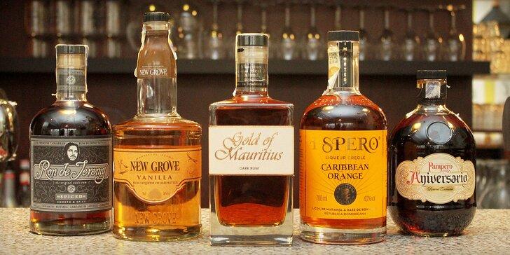 Degustace jemnějších i klasických rumů z celého světa pro 1 nebo 2 osoby