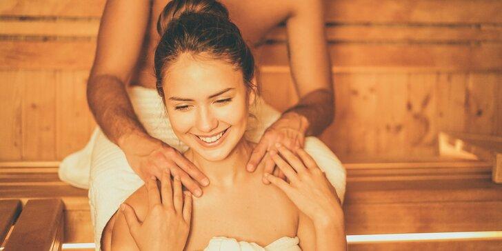 Romantika pro dva: privátní wellness s láhví sektu, masáží či rašelinovým zábalem