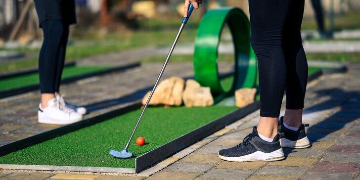 Minigolf o 36 jamkách: 2 hod. zábavné hry pro 2 osoby i rodinu