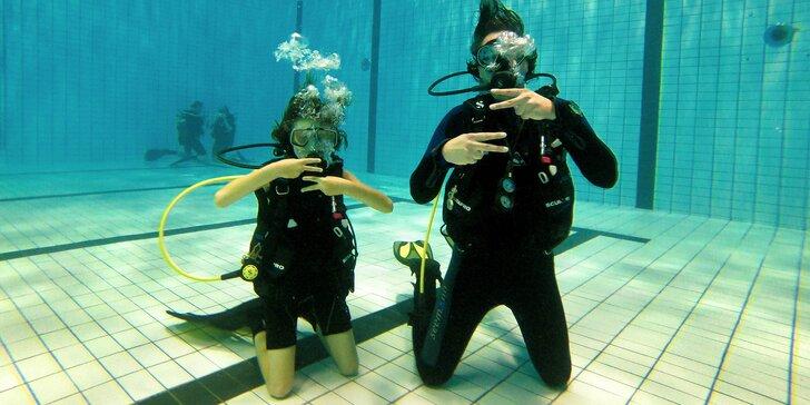 Potápění na zkoušku pro začátečníky i pokročilé: 1–2 osoby, půjčení výstroje