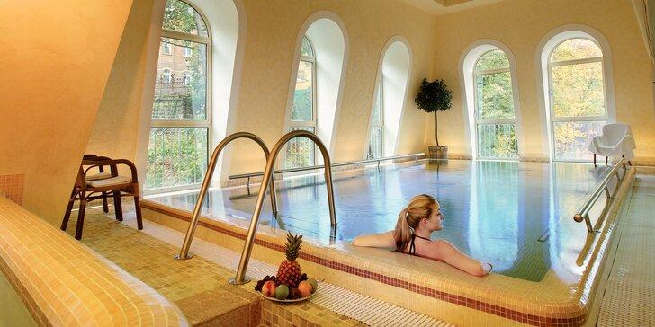 4* relaxace v Karlových Varech pro 1 nebo 2 osoby: snídaně či polopenze, wellness i procedury