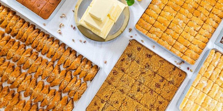 Až 1 kg baklavy z pekárny v Holešovicích: pistáciová, oříšková nebo kokosová