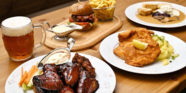 Otevřený voucher na jídlo i pití v restauraci a baru Legenda u I. P. Pavlova: kupon na 300–800 Kč