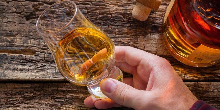 Degustace 4 druhů whisky: 3 balíčky špičkového alkoholu z Irska, Skotska, Ameriky i Asie