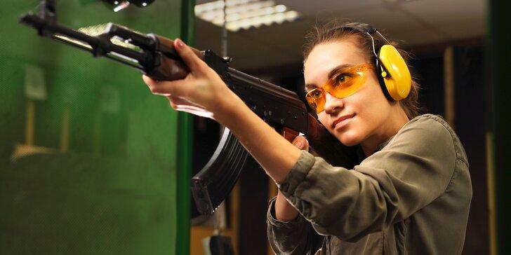 Střelecké balíčky v podzemní střelnici: dlouhé i krátké zbraně a až 50 nábojů