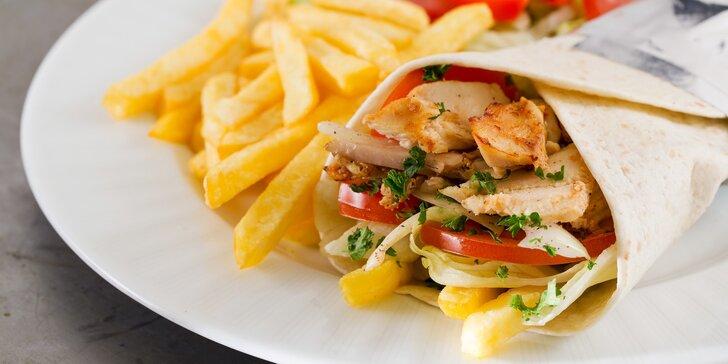 Twister, falafel či pita menu pro 1 osobu nebo mix grill pro 2 osoby