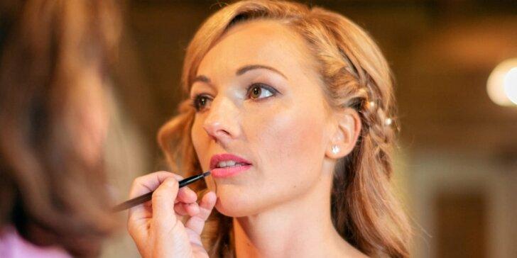 Sama sobě vizážistkou: kurz líčení pro 1 či 2 osoby třeba i s balíčkem kosmetiky