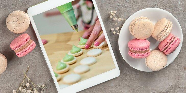 Cukrářský online kurz dle výběru: krémový dort, potahovaný dort a pečení makronek