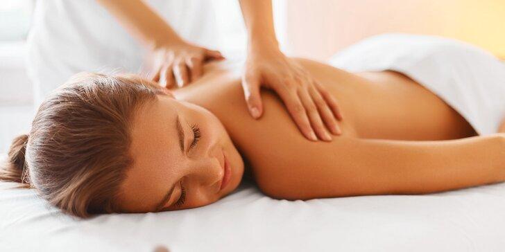 30 či 60 min. masáže: klasická, relaxační, medová, čokoládová i zpevňující s kontryhelem