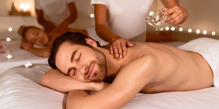 Párové thajské masáže v délce 60 nebo 90 minut: klasická nebo relaxační olejová