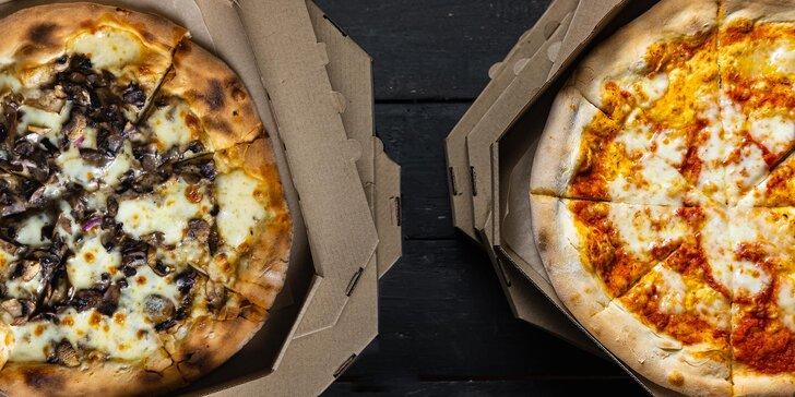 1 nebo 2 italské pizzy, výběr z 19 druhů: hawaii, quattro formaggi, tonno, piccante a další