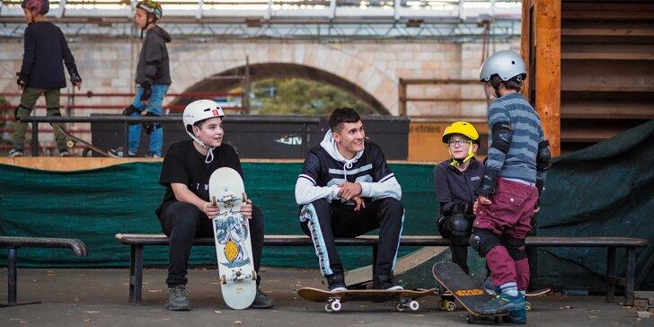 Vstup na skupinovou lekci skateboardingu pro děti od 4 do 15 let