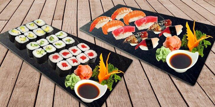 Hradecké Japonsko: sety s 10–100 ks nigiri a maki rolek s rybami i zeleninou
