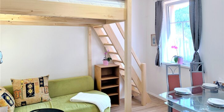 Až 8 dní v přírodě Jizerek a Krkonoš: apartmán s kuchyňkou až pro 4 osoby