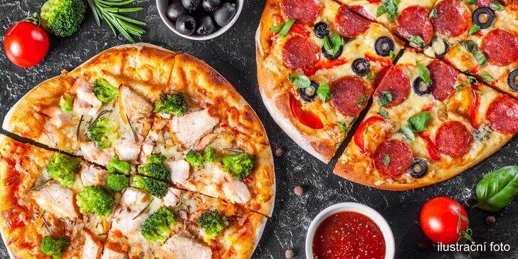 1 či 2 pizzy s rozvozem po Ústí: výběr z 26 klasických i speciálních druhů, průměr 45 cm