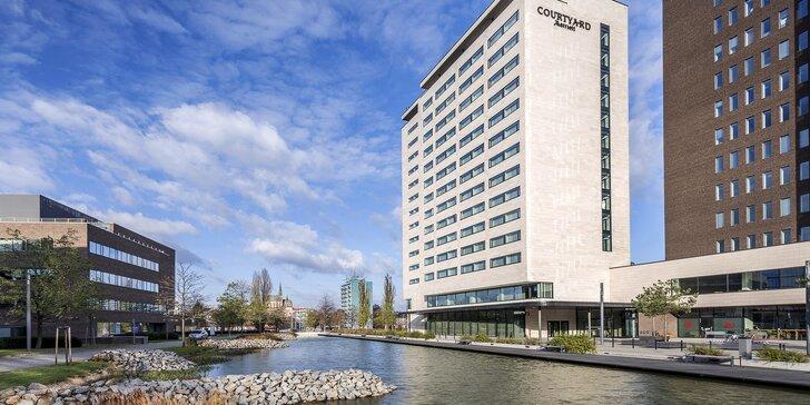 Moderní hotel sítě Marriott v Brně: snídaně nebo polopenze a dítě do 5,9 let zdarma