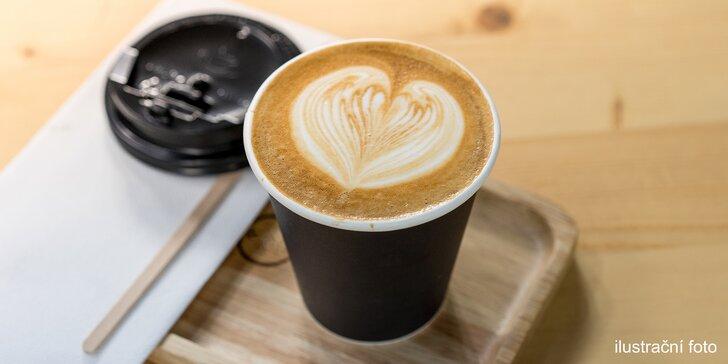 Chvíle pohody v přírodě: káva podle výběru ze 4 druhů na odnos s sebou