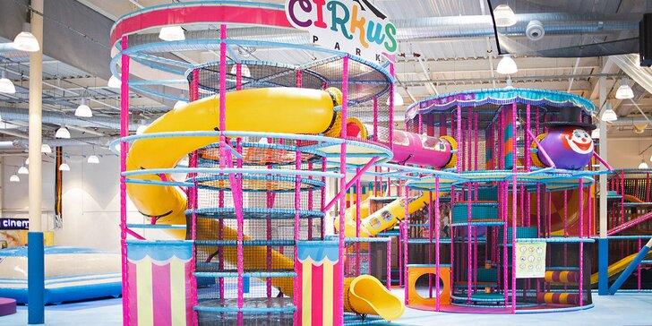 Vstup do dětského Cirkus Parku o rozloze 3000 m²: nejmodernější atrakce ve střední Evropě