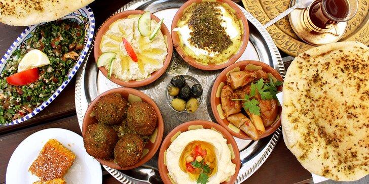 Tradiční gril a neopakovatelná chuť orientu: libanonské vegetariánské menu