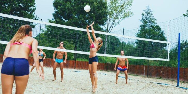 Pronájem hřiště na plážový volejbal v areálu Císařská louka: 1 nebo 2 hodiny hry