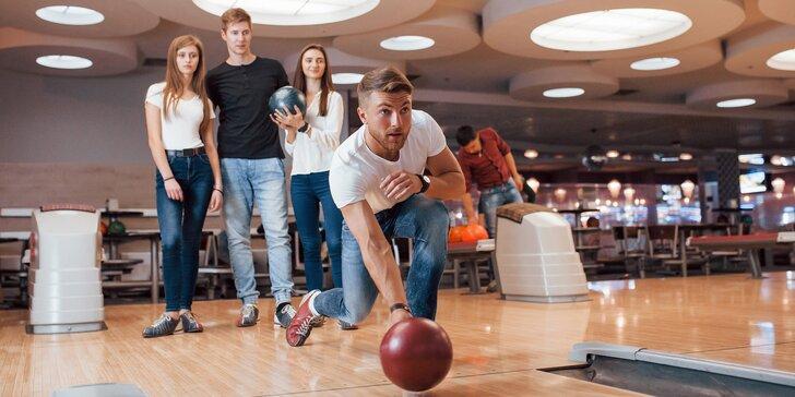Pronájem dráhy na bowling na 60 nebo 120 minut až pro 6 hráčů