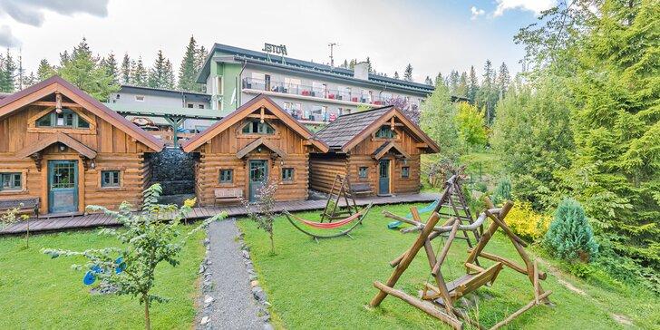 Pobyt ve Vysokých Tatrách: bydlení v rustikálních srubech, polopenze i wellness